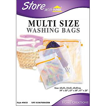 Multi Size Mesh Laundry Bags-3 Sizes 6625
