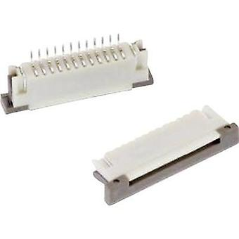 Receptacles (standard) ZIF FPC Total number of pins 10 Würth Elektronik 68611014122 Contact spacing: 1 mm 1 pc(s)