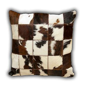 Rugs - Leather Patchwork Cow Cushion No.1