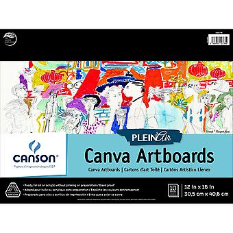 Canson Plein Air ArtBoard Canvas Pad 12