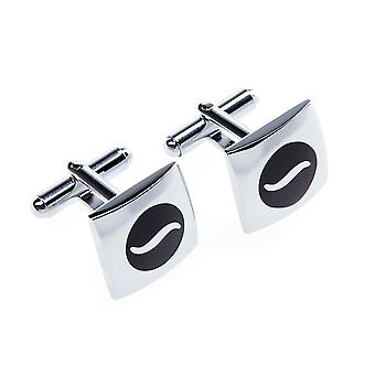 Marcell Sanders men's cufflinks Black Silver Denia stainless steel