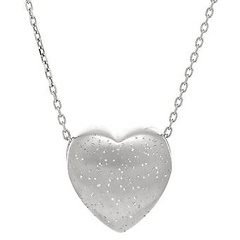 Sterling zilveren hart vorm Charm Necklace, 18