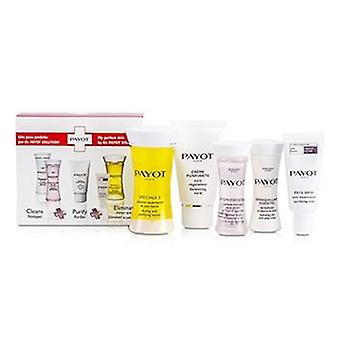 Payot Travel Set: Speciale 5 + Creme Purifiante + Demaquillant Essentiel + Lotion Essentielle + Pate Grise - 5pcs