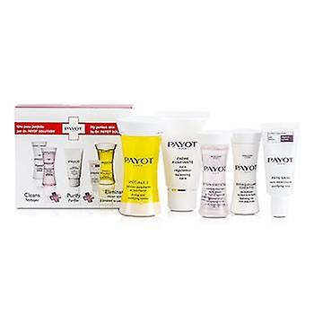 Payot Travel Set: Nur spezielle 5 + Creme Purifiante + Demaquillant Essentiel + Lotion Essentielle + Pate Grise - 5pcs