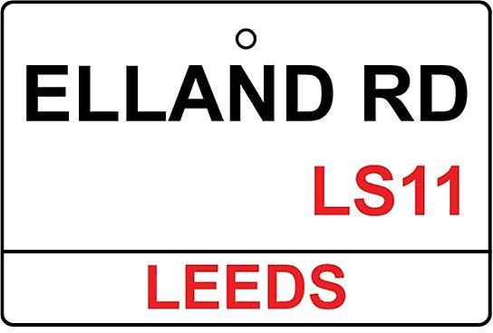 Leeds / Elland Rd Street Sign Car Air Freshener