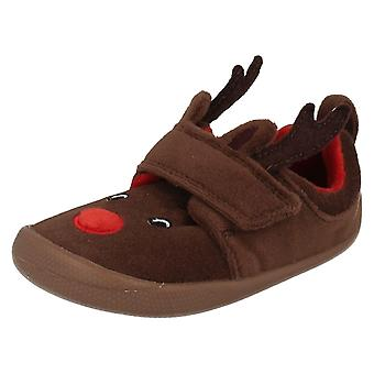 I neonati Clarks renne pantofole Shilo Jena