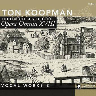 D. Buxtehude - D. Buxtehude: Complete Works 18: Vocal Works 8 [CD] USA import