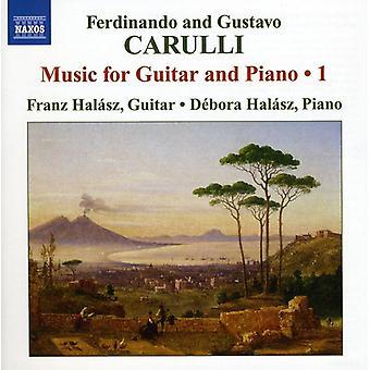Carulli/Carulli - Ferdinando Carulli, Gustavo Carulli: Musique pour guitare Piano &, importation USA Vol. 1 [CD]