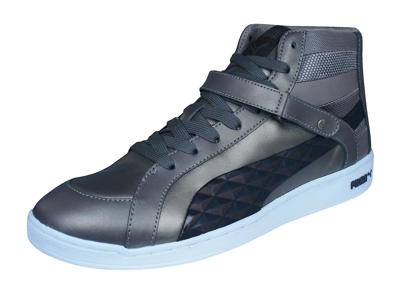 Puma The Key Quilt Quilt Quilt Wo  Leather Mid Top Trainers / Shoes - Bronze 4aec07