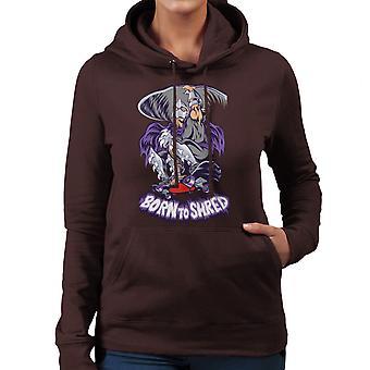 Born To Shred Teenage Mutant Ninja Turtles Skateboard Shredder Women's Hooded Sweatshirt