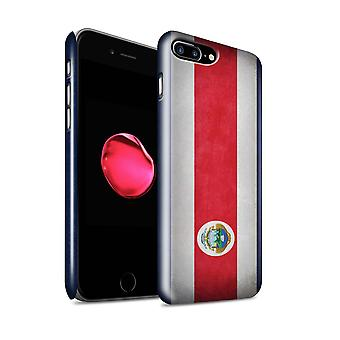 STUFF4 Glanz zurück Snap-On Handy Hardcase für Apple iPhone 7 Plus / Costa Rica/Rico Design / Flaggen Sammlung