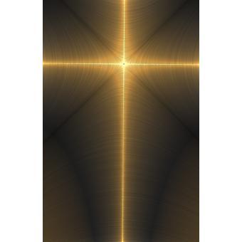 Illuminated Metallic Cross Poster Print by Paul Sale  Design Pics