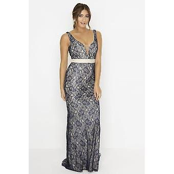 Outlet Little Mistress Navy Maxi Dress