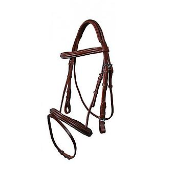 QHP Luxury stitched dark brown Bridle Pony (Horses , Pony world , Bridles and reins)