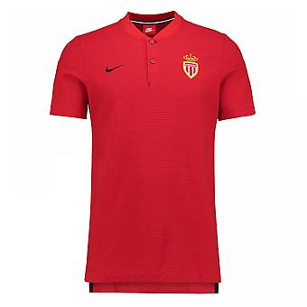2017-2018 Monaco Nike authentiek Grand Slam Polo Shirt (rood)