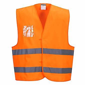 Portwest - Hi-Vis Safety Workwear Vest - Dual ID Holder