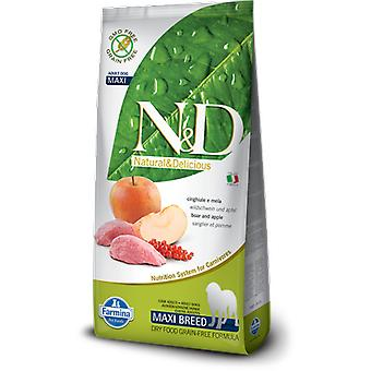 Farmina N&D Grain Free Adult Maxi Wild Boar and Apple (Dogs , Dog Food , Dry Food)
