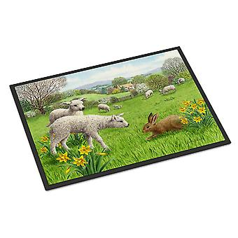 Lambs, Sheep and Rabbit Hare Indoor or Outdoor Mat 18x27