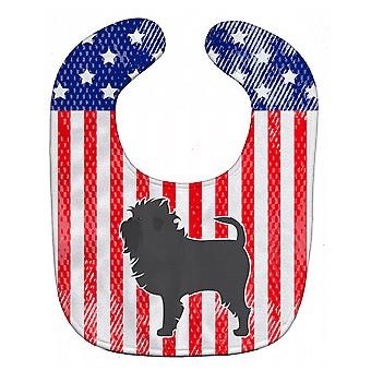 Carolines Treasures  BB3348BIB USA Patriotic Affenpinscher Baby Bib