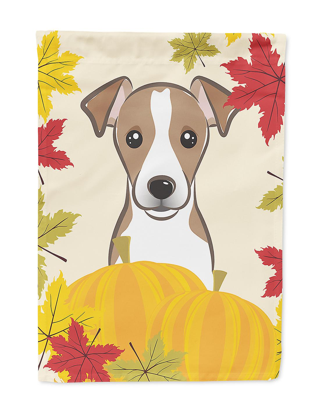 Jack Russell Terrier Thanksgiving Flag House Taille du canevas
