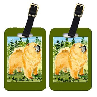 Carolines Treasures  SS8871BT Pair of 2 Chow Chow Luggage Tags