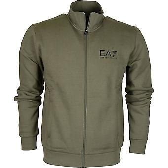 EA7 by Emporio Armani 6ypm55 Funnel Neck Zip Cotton Forest Night Green Sweatshirt