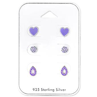 Paarse Lovers - 925 Sterling Zilver Sets