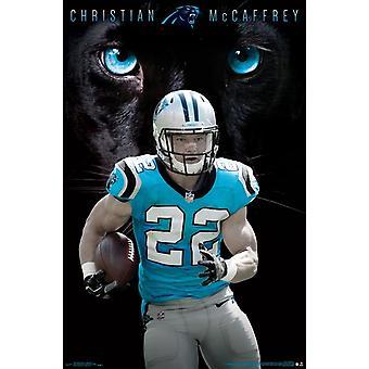 Carolina Panthers - Christian McCaffrey Poster Print