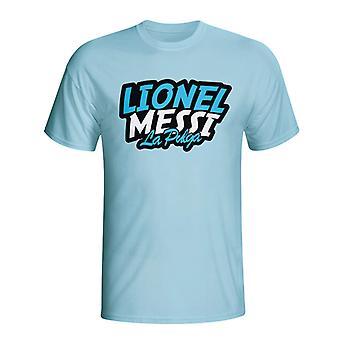 Lionel Messi komiksu T-shirt (błękitny) - dla dzieci