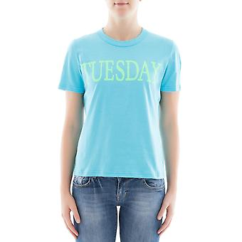 Alberta Ferretti women's 07011690313 light blue cotton T-Shirt