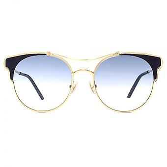 Jimmy Choo Lue Sunglasses In Gold Blue