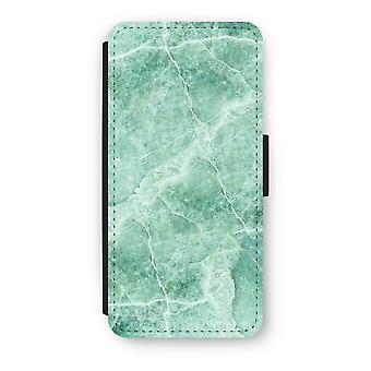 iPhone 5/5 s/SE フリップ ケース - 緑の大理石