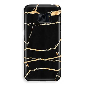 Samsung S7 Full Print Case - Gold marble