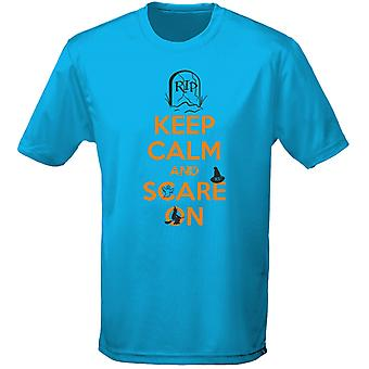 Keep Calm And Scare On Halloween Fancy Dress Mens T-Shirt 10 Colours (S-3XL) by swagwear