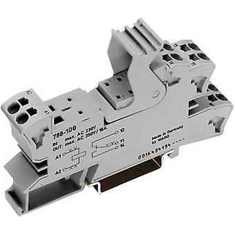 WAGO 788-103 Socket, for 25mm relay, 2 CO