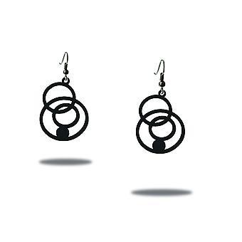 Earrings woman Disco black Silicone