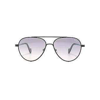 Moncler Pilot Sunglasses In Matte Black Grey Mirror