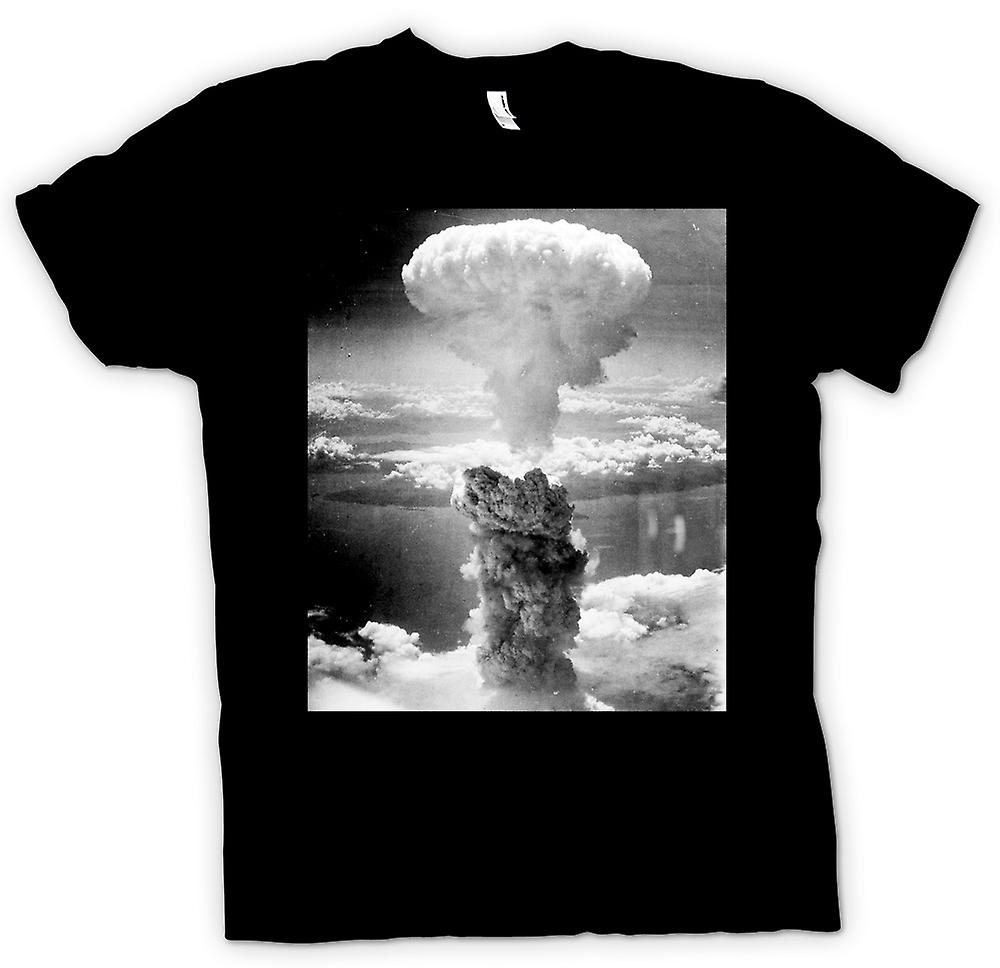 Kids T-shirt - Nuclear Mushroom Cloud  And White