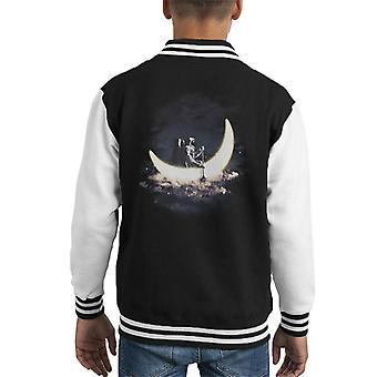 Moonsailing Astronaut Kid's Varsity Jacket
