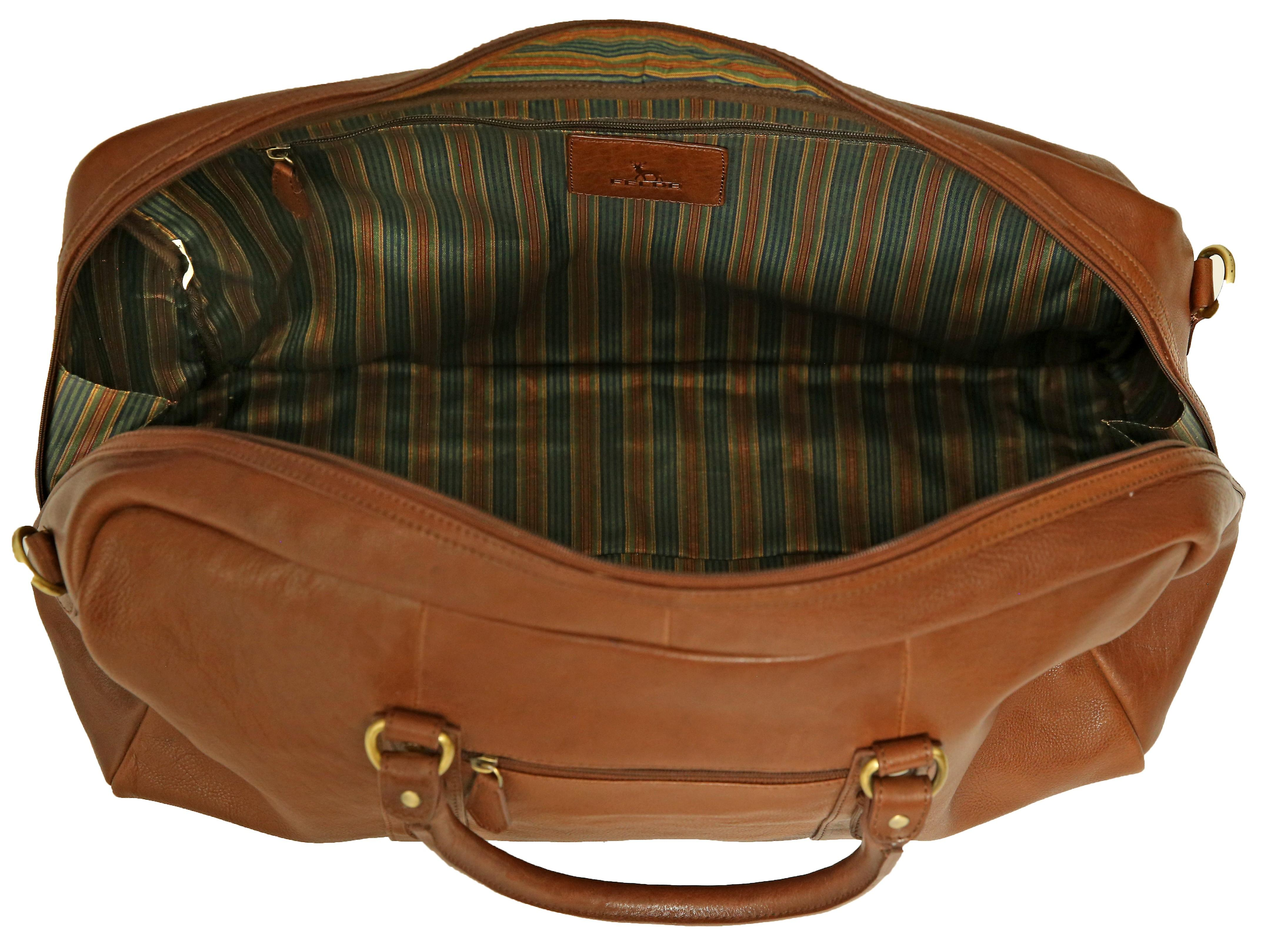 Felda Genuine Leather Holdall Duffel Bag - Cabin Hand Luggage