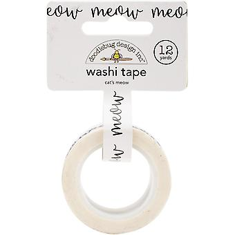 Doodlebug Washi Tape 15mmX12yd-Cat's Meow