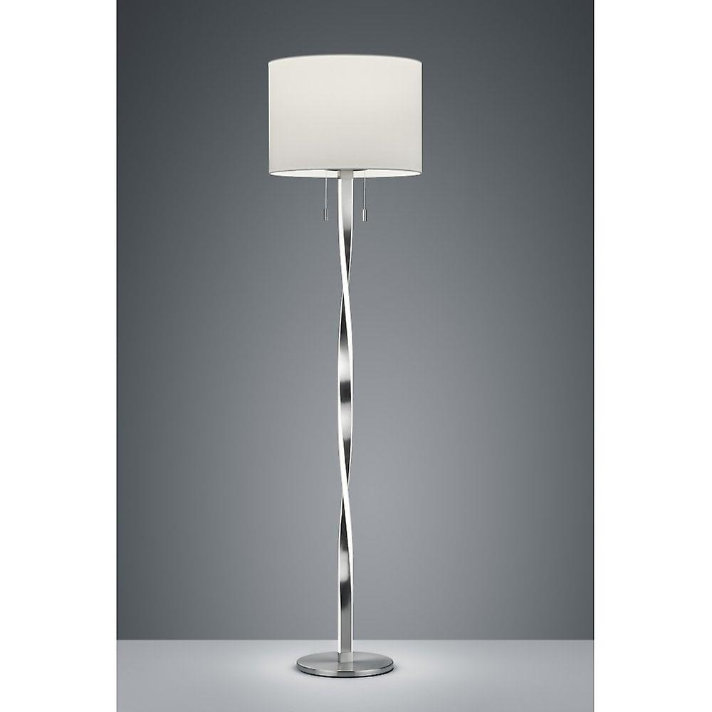 Trio lumièreing Nandor Modern Nickel Matt Metal Floor Lamp