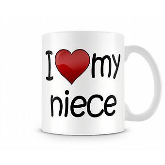 I Love My Niece Printed Mug