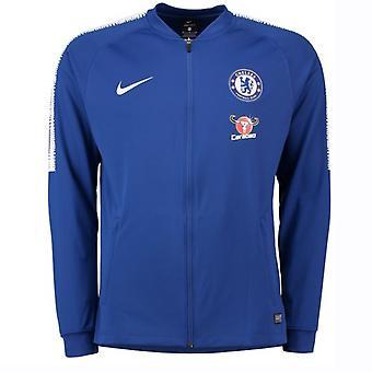 2018-2019 Chelsea Nike Squad Track Jacket (blauw)