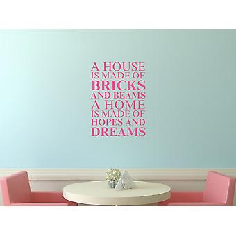 A house is made of Wall Art Sticker - Pink