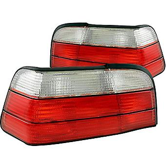 AnzoUSA 221215 Red/Clear Taillight for BMW 3 Series - (Sold in Pairs)