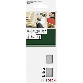Bosch Accessories Hot melt glue sticks 7 mm 150 mm Transparent (opaque) 30 pc(s)