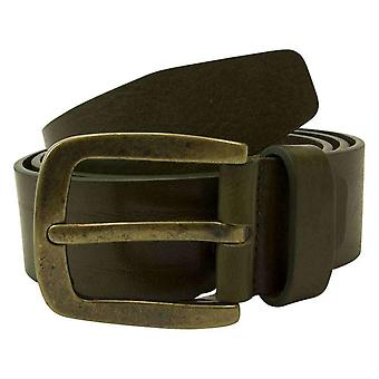 40 Colori Solid Leather Belt - Military Green