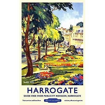 Harrogate (alte Schiene Ad.) Kleine Metall unterzeichnen 200 X 150 Mm