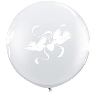 Qualatex 3 Foot Clear Love Doves Latex Balloon (Pack Of 2)